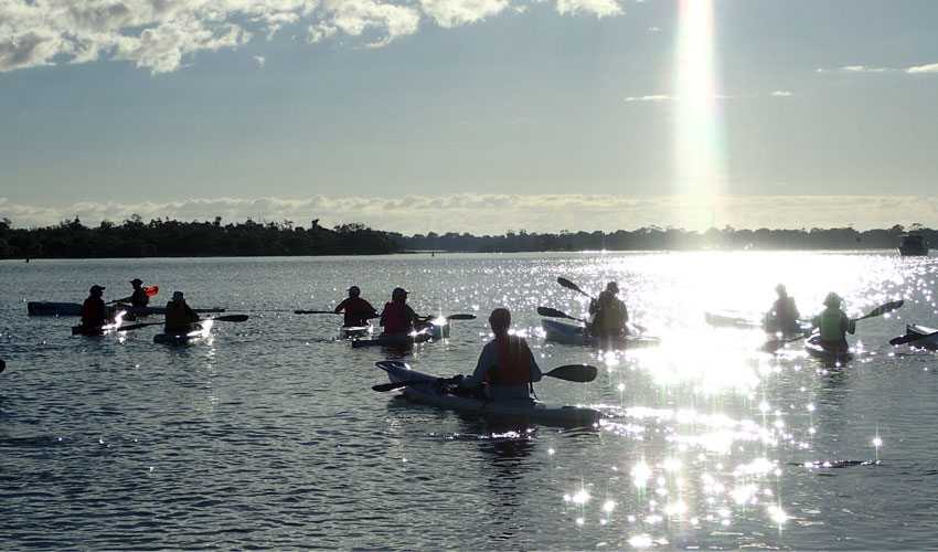 Kyaking in Noosa