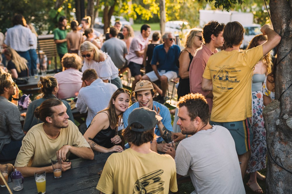 Boiling Pot Brewery - people in the beer garden