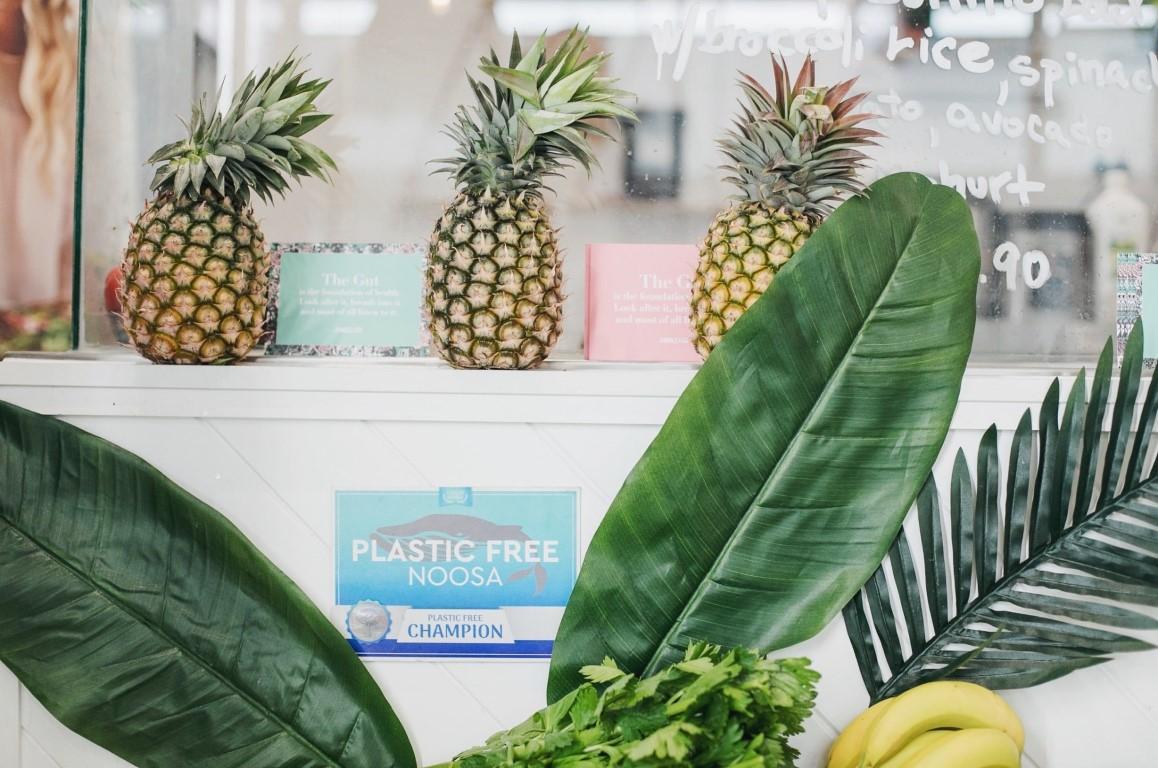 Plastic Free Noosa certificate on restaurant wall